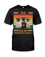 Pug Favorite Classic T-Shirt front