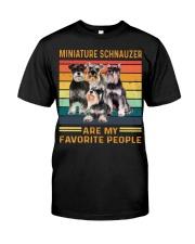 Miniature Schnauzer Favorite Classic T-Shirt front