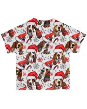 Basset Hound Xmas Decor All-over T-Shirt back