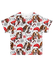 Basset Hound Xmas Decor All-over T-Shirt front