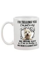 West Highland White Terrier Telling Mug back