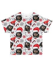 Black Tan Coonhound Xmas Decor All-over T-Shirt front