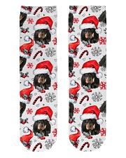 Black Tan Coonhound Xmas Decor Crew Length Socks thumbnail