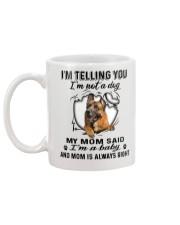 German Shepherd Telling Mug back