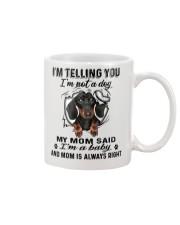 Dachshund Telling Mug front