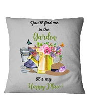 HAPPY PLACE GARDEN  Square Pillowcase thumbnail