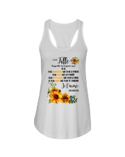 TOURNESOL MA FILLE - PRINT TWO SIDED - PERFECT GIF Ladies Flowy Tank thumbnail