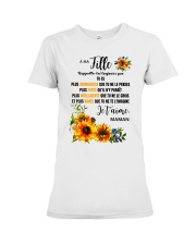 TOURNESOL MA FILLE - PRINT TWO SIDED - PERFECT GIF Premium Fit Ladies Tee thumbnail