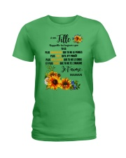 TOURNESOL MA FILLE - PRINT TWO SIDED - PERFECT GIF Ladies T-Shirt thumbnail