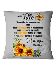 TOURNESOL MA FILLE - PRINT TWO SIDED - PERFECT GIF Square Pillowcase thumbnail