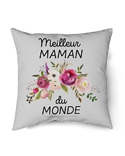 "PERFECT GIFT  Print two-sided Meilleur maman  Indoor Pillow - 16"" x 16"" thumbnail"