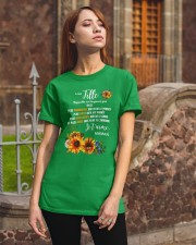 À Ma Fille Perfect gift Sunflower Classic T-Shirt apparel-classic-tshirt-lifestyle-06