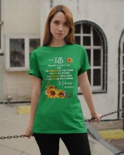 À Ma Fille Perfect gift Sunflower Classic T-Shirt apparel-classic-tshirt-lifestyle-19