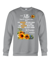 À Ma Fille Perfect gift Sunflower Crewneck Sweatshirt thumbnail