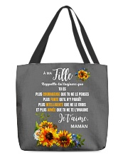 À Ma Fille Perfect gift Sunflower All-over Tote thumbnail