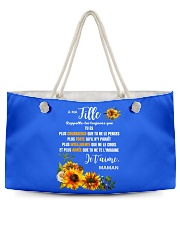 À Ma Fille Perfect gift Sunflower Weekender Tote thumbnail