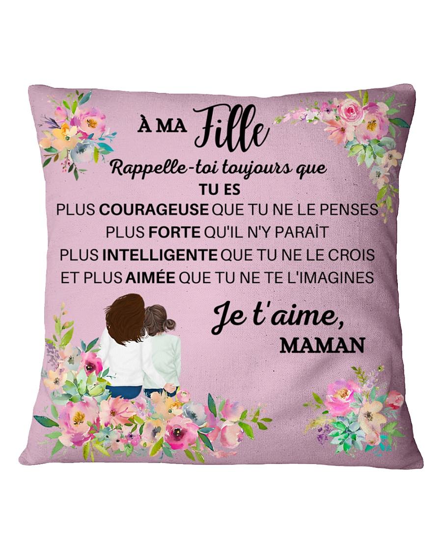 Je t'aime ma fille Square Pillowcase