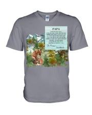 PAPA homme unique PERFECT GIFT  V-Neck T-Shirt thumbnail