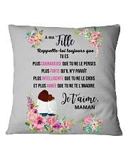 À Ma Fille Perfect Gift - Cadeau Parfait Square Pillowcase thumbnail