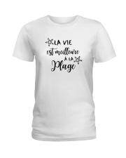LA VIE EST MEILLEUR À LA PLAGE Ladies T-Shirt thumbnail