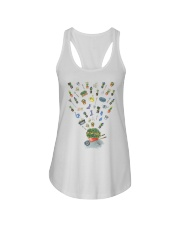 HAPPY GARDEN - PRINT TWO SIDED PERFECT GIFT  Ladies Flowy Tank thumbnail