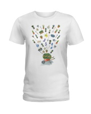 HAPPY GARDEN - PRINT TWO SIDED PERFECT GIFT  Ladies T-Shirt thumbnail