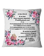 Je serai toujours avec toi Square Pillowcase tile