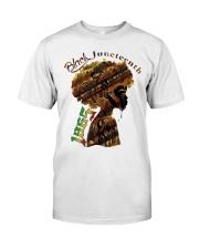 Girl Black Juneteenth since 1865 shirt Classic T-Shirt front