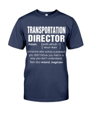 HOODIE TRANSPORTATION DIRECTOR Premium Fit Mens Tee front