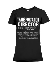 HOODIE TRANSPORTATION DIRECTOR Premium Fit Ladies Tee thumbnail