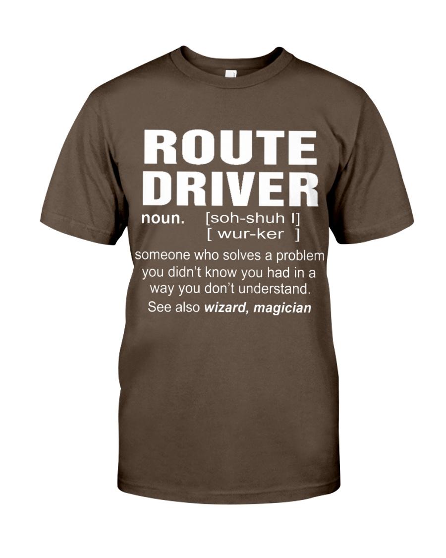 HOODIE ROUTE DRIVER Premium Fit Mens Tee