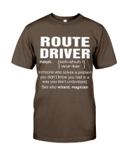 HOODIE ROUTE DRIVER Premium Fit Mens Tee front