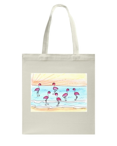 Beach Flamingos