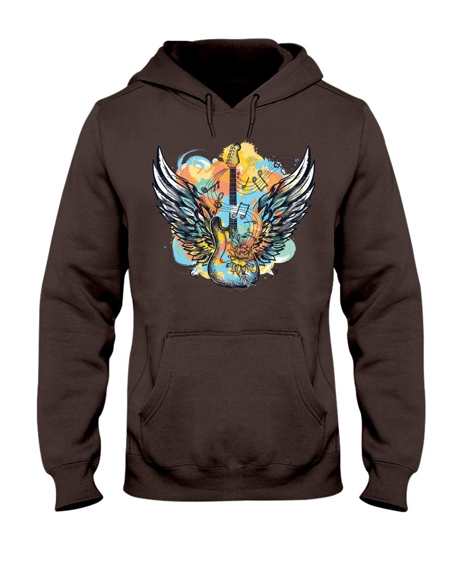 wings of guitar Hooded Sweatshirt