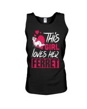 This Girl Loves Her Ferret Unisex Tank thumbnail