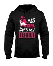 This Girl Loves Her Ferret Hooded Sweatshirt thumbnail