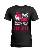 This Girl Loves Her Ferret Ladies T-Shirt thumbnail