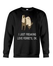 I Just Funny Cool Ferret Lovers Crewneck Sweatshirt thumbnail