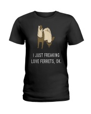I Just Funny Cool Ferret Lovers Ladies T-Shirt thumbnail