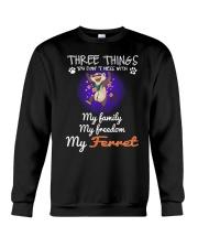 Three Things Ferret Freedom Family Crewneck Sweatshirt thumbnail