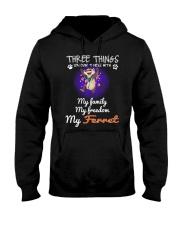 Three Things Ferret Freedom Family Hooded Sweatshirt thumbnail
