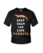 Keep Calm Ferret Shirt Youth T-Shirt thumbnail