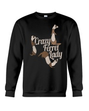 CRAZY FERRET LADY Crewneck Sweatshirt thumbnail