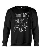 I REALLY LOVE FERRETS Crewneck Sweatshirt thumbnail
