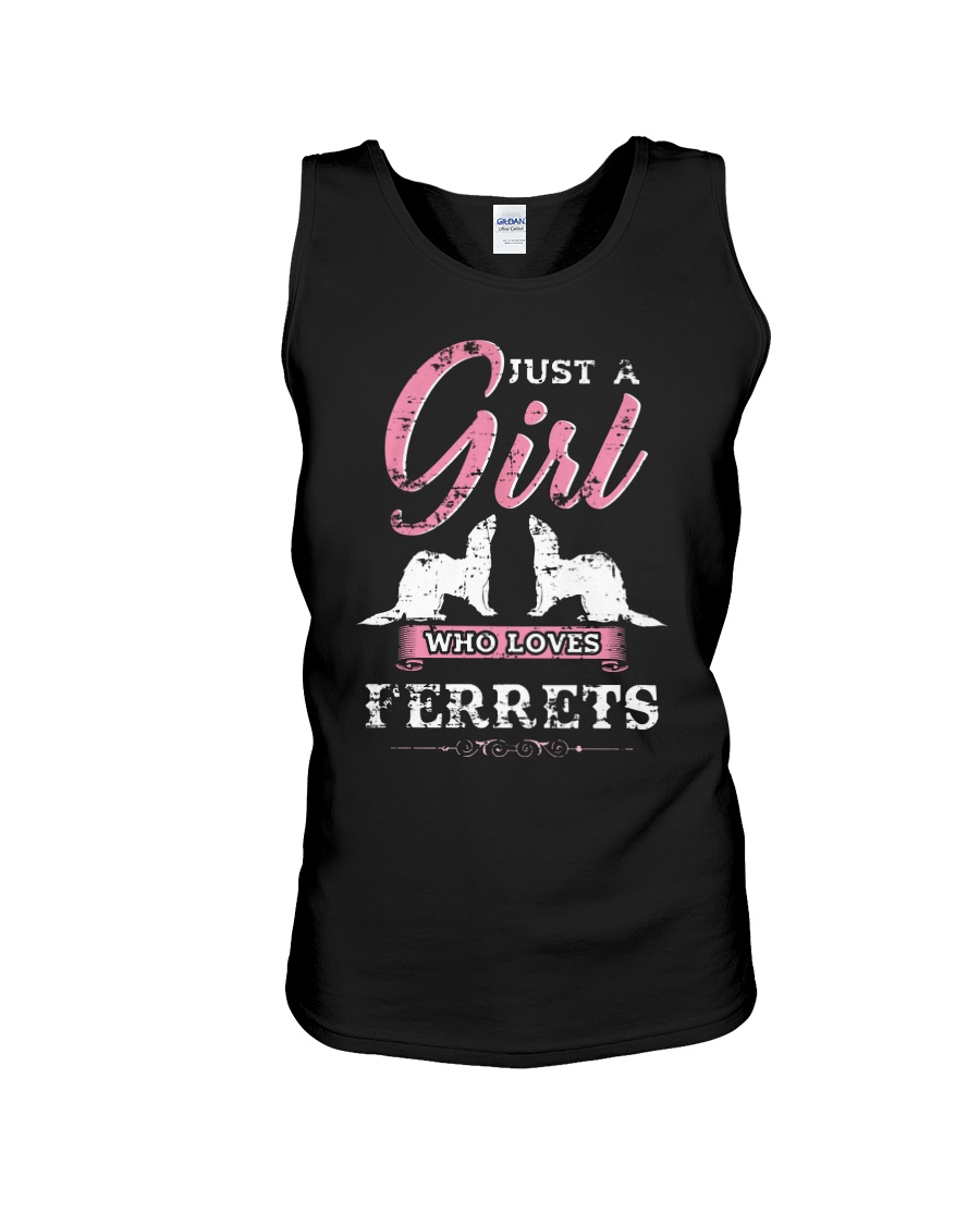 JUST A GIRL WHO LOVES FERRETS Unisex Tank