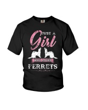 JUST A GIRL WHO LOVES FERRETS Youth T-Shirt thumbnail