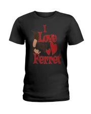I love my Ferret Ladies T-Shirt thumbnail