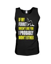 My Ferret Does Not Like You Unisex Tank thumbnail