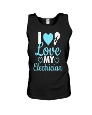 I Love My Electrician Unisex Tank tile