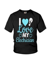 I Love My Electrician Youth T-Shirt thumbnail